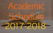 Academic Schedule 2017-2018